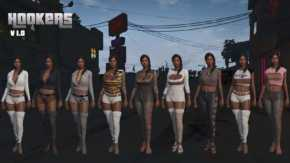 GTA5 PC版 売春婦の服や肌質を変更するテクスチャMODが登場