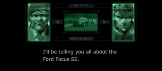 フォードがメタルギアソリッドのスネークと大佐でCM公開!初代スネークが帰ってきた