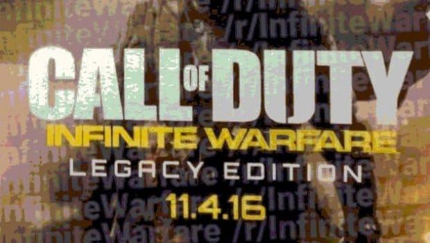 COD新作は「Coll of Duty Infinite Warfare」発売日情報もリーク!COD4 リマスターも同梱か