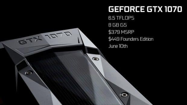 GTX1070も発表されました