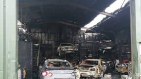 GT-R専門の自動車整備工場で大火災!スカイラインやGT-Rを含み全焼!40人以上の消防士が出動