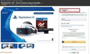 「PlayStation VR+GTスポーツ」がAmazonにて199ドルで販売中!日本での定価の半額以下