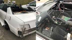 外国人窃盗団にトヨタ・チェイサーを盗まれたオーナー!盗難車を発見するも愛車は無残な姿に