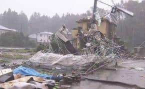 千葉県市原市で竜巻発生!建物が崩壊しグチャグチャで子供含む4人けが
