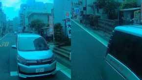 埼玉県草加市で建設会社のトヨタ・ヴォクシーに乗るDQN運転手が停止線超えて逆ギレ「ナンデェコノヤロォ!!オイ!」