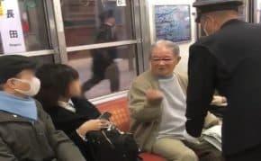 大阪・長田駅の電車に女性を叩きまくる高齢者が登場!「足組んでたから注意した。アホと付き合ってられん」