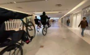 大阪・なんばCITYで自転車チームが大暴走する迷惑行為!過去にも様々な暴走行為