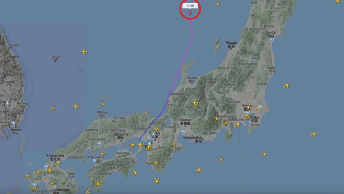 元日産自動車のカルロス・ゴーン被告を乗せた逃亡機か!関空からトルコに向かう怪しいプライベートジェットを発見