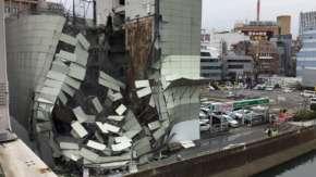 横浜駅西口・ホテルZAFIROのビルが崩壊!建て替え作業失敗か