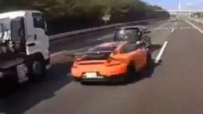 首都高・湾岸線のポルシェ追突事故のドラレコ公開!想像以上のヤバすぎるスピード