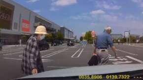 埼玉県・イオンモール浦和美園の駐車場で老夫婦が10円パンチ!呼吸するように老婆が犯行する
