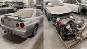 """<span class=""""title"""">アメリカに密輸された国産スポーツカー(R34GTR・S15など)20台が押収され競売へ!盗難車の疑いも</span>"""